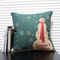 45 centímetros * 45 centímetros Moda da árvore de Natal do boneco de neve almofada do sofá de tecido travesseiro casa cobertura grandes travesseiros decorar Frete grátis!