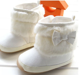 Wholesale 30 off pairs Warm white high top boots years old baby winter sheepskin boots cheap china baby wear shoes hot kid shoes Z