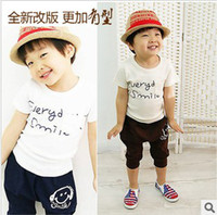 Cheap 2013 Hot Fashion Children Kids Clothing Set Girls Boys Summer Wear HOT Selling