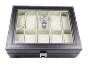 Wholesale 10 boxes of watches fashion high end PU leather watch display case storage box watch box BB