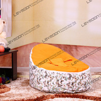 Wholesale baby bean bag with orange up cover baby beanbag fabric sofa chair baby bean bag chair baby seat