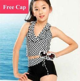 Wholesale New Arrival Children Clothing Fashional Dots Girls Swimwear Girl Kids Swim Wear Summer Swimsuit TTY001