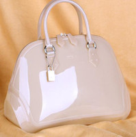 Wholesale 2013 Boston candy colored jelly bag woman hand women handbag shell lady totes