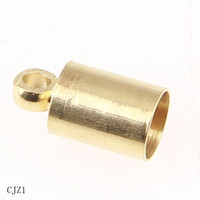 barrel cord ends - x6mm g Beads Caps Gold Plated Alloy Barrel Cord Ends Caps Beads Crafts Jewelry Findings CJZ1