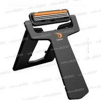 Wholesale New men s Ultra thin Carzor carry on portable card pocket shaver blades mirror smart travel razor LYY158