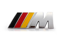 Wholesale IIIM style CAR Emblem AMG Metal Emblem Badge Logo Alloy Car Logo Front Grill Badge for BMW M3 Yellow Red Black