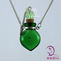 Wholesale Murano Glass Perfume Necklace Small Heart aromatherapy oil diffuser essential oil perfume bottles