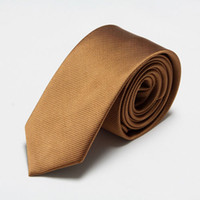 Wholesale hot sale men s solid color striped silk neck ties business necktie for christmase gift cm