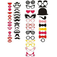 Wholesale New Arrival Photo Booth Props Mustaches Lips Bowties Sunglasses Masks Wedding Birthday Party Favor