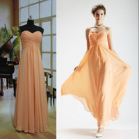Ruffle replicas - 2014 custom made cheap strapless ruffle dressy chiffon bridesmaid dress party dress OP01