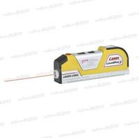 Wholesale LV02 Laser Level Horizon Vertical Measure Measuring Tape FT Aligner Ruler Tool Hand LLY164