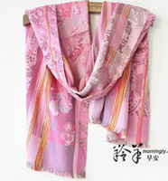 Wholesale Good morning Ms antelope wool dyed silk scarves process