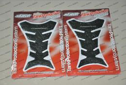 LLFA1183 frete grátis venda quente Reflective fibra de carbono Motorcycle Tanque Pad Protector Para Suzuki GSXR 600 750