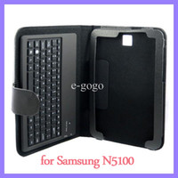 Wholesale Bluetooth Keyboard Inch Leather Case with Stand Holder for Samsung Galaxy Note N5110 N5100 wireless degree detachable keyboard