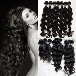 Wholesale High quality Indian Virgin Remy Human hair weft Deep Wave g same lenght or mix lenght DHL in stock