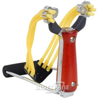 Wholesale Steel Powerful Wrist Brace Support Shot Slingshot Catapult Hunting High With Band