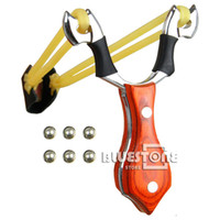 Wholesale Battleax Wood Ergonomic Grip Steel Slingshot Catapult Hunting Sling Shot Launch