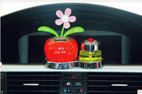 Wholesale 10pcs Novelty Toys Car Decor Flap Flip Solar Powered Flower Flowerpot Swing Solar Dancing Toy Ornaments
