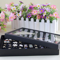 Wholesale Black Thicker Version Hole For Rings Display Tray Cover Jewelry Box Tray Jewelry Holder Shows Case Jewelry Organizer Tray
