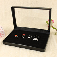 Wholesale Jewelry Box Tray Rings Tray With Cover Jewelry Display Tray Quality Cardboard Jewelry Holder Jewelry Organizer Tray