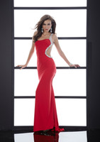 Hourglass Floor-Length Princess Wow Factor!!! Red One Shoulder Rhinestones Beading Backless Stunning Prom Dress Pageant Dress Ball Gown