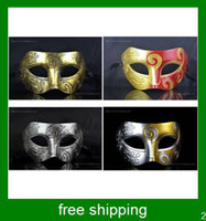 Wholesale Halloween mask Masquerade mask pc Vintage Roman Gladiator baron Venetian Mask Carnival Mask