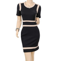 Cotton name brand evening dress - Fashion dress New cheap fashion lady elegant dress brand name evening party skirt black S M L XL XXL