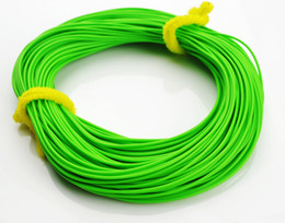 Wholesale 1X FLY FISHING LINES ft floating for rod reel welded loops moss line fishing tackle Rubber Synthesis