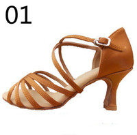 Wholesale Hot Sale High quality women chiildren fashion stain latin dance shoe cm heel dancing shoes