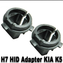 Wholesale 10 PAIRS PER PAIR HID Xenon H7 Bulbs Adapter Holders Convert H023 For Hyundai Up Genesis Coupe Up Veloster K5