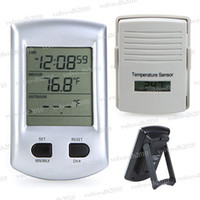 Household Temperature Recorder  Indoor Outdoor Digital Wireless Thermometer Weather Station Clock For Home Garden LLY178