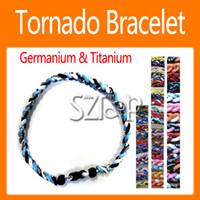 Wholesale Tornado Germanium amp Titanium Balance Sports Power Energy Bracelet Ropes Bracelet Energy Ring Bracelets