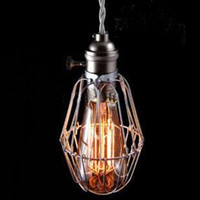 Wholesale Industrial Cage Light Edison Vintage Chandeliers Ceiling Pendant lamp w bulb Home Lighting
