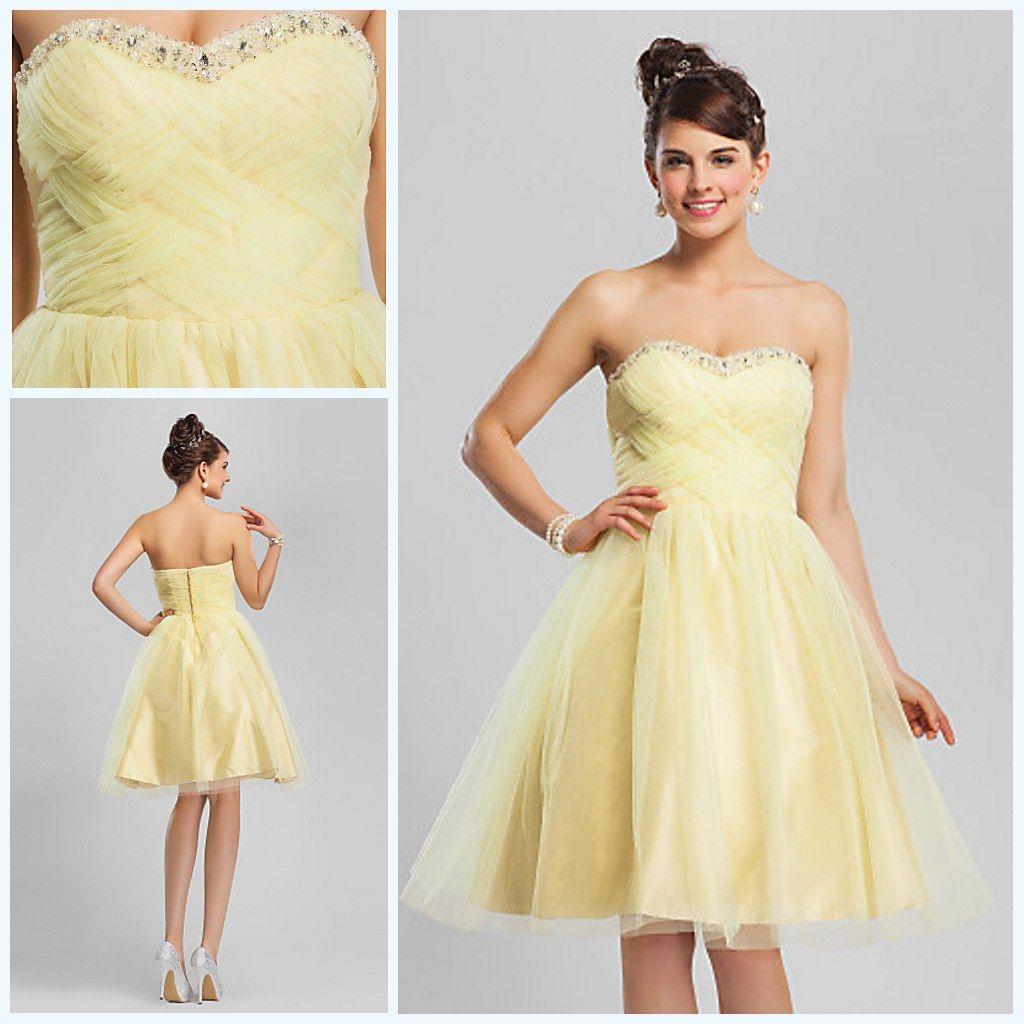 Yellow Short Cocktail Dresses | Dress images