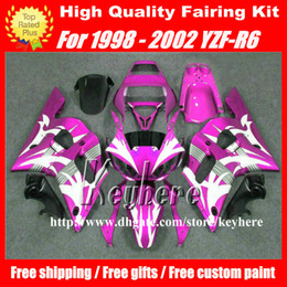 Free 7 gifts fairing kit for YAMAHA YZFR6 1998 1999 2000 2001 2002 YZF600R YZF R6 98 99 00 01 02 fairings G2p purple white motorcycle parts