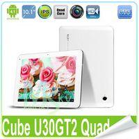 Cube 10 inch Quad Core 5pcs lot Cube U30GT2 RK3188 Quad Core 10 inch Tablet PC 1.8GHz Retina IPS Screen 1920*1200 2GB 32GB Gyroscope Bluetooth HDMI 000299