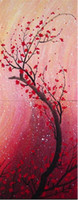 Wholesale Floral Oil Painting The Beauty of Red Flower Popular Museum Painting for Wall Decor High Quality Unframed Painting