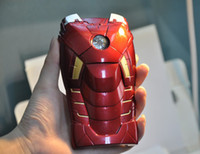 Wholesale 3D Iron Man hero MKVII LED Light Up Armor iPhone Case for iPhone5 S in part Plastic PVC Back Shell Protector package