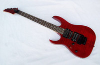 Wholesale New brand electric v style left hand guitar with red flame maple top