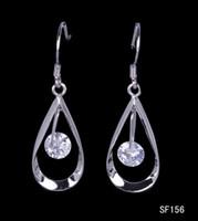 Purple Fashion Women's Fashion 41x11mm Oval W Crystal Drop 925 Sterling Silver Earrings Eardrop Dangle Hook Women Ladies Jewelry Accessory Free Shipping SF156*5