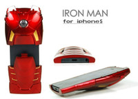 Wholesale Holiday GIFT D IRON MAN Hard Case Cover for iPhone G Red COOL in part Plastic Back Shell Protector hero Original Packing DHL FREE