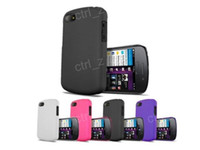 case bb - Colorful Rubberized Rubber Hard Plastic Case Cover for BlackBerry BB Q10