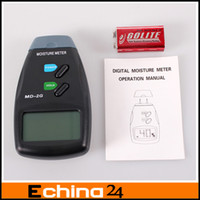 Wholesale Digital Wood Moisture Damp Detector Meter Tester MD G PRO Plaster Wood Soil Timber Sensor Retail Pacakge