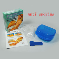 Wholesale Stop Snoring Mouthpiece Anti Snore Apnea Cure No Snore Soft Silicon Anti Snore Sleeping Aid Sleeping Aid Night Tray