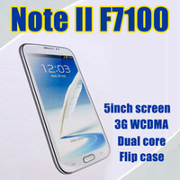Wholesale 5 Inch N7100 MTK6575 Dual Core Cell Phone with Flip case Android NOTE II GPS WIFI G Mobile