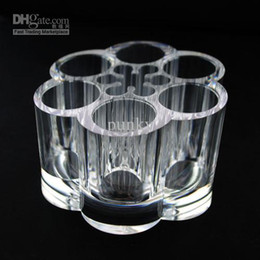Wholesale Clear Type Acrylic Crystal MAC Brush Sets Tube Container Lipstick Cosmetic Organizer Makeup Case Holder Storage Box Gift SF