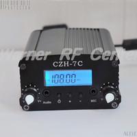 Wholesale CZH C W W MHz MHz LCD PLL Stereo Broadcast radio station FM transmitter Black