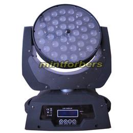 Couleur dual quad en Ligne-Dual Flightcase + 2 pièces Zoom Led lampe de lavage de tête mobile 36pcs * 10w RGBW lampe à LED quad-coloration projecteur éclairage éclairage