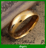 Wholesale Lord of the Ring Gold Stainless Steel Men s Band Ring US Size