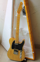 Wholesale 2013 New Arrival Custom Shop Guitar Maple Yellow Strings natural Wood Electric Guitar